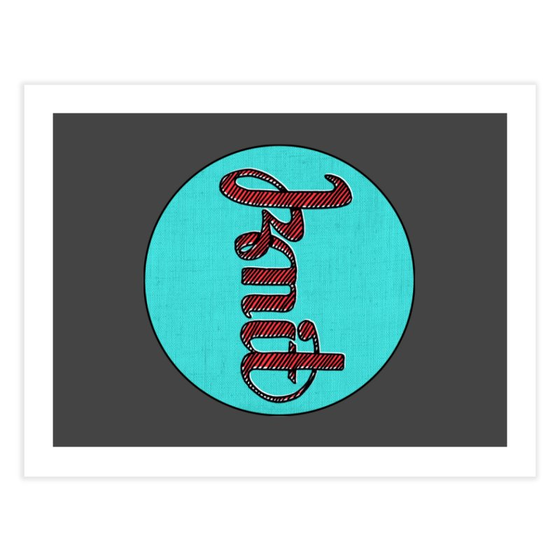 Knit/Purl ambigram Home Fine Art Print by Gritty Knits
