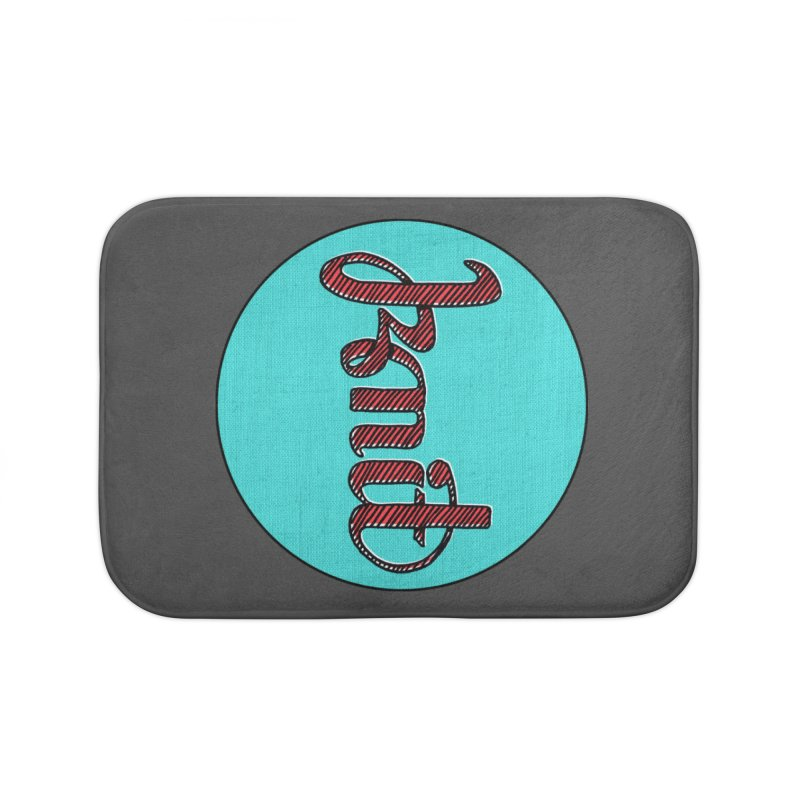 Knit/Purl ambigram Home Bath Mat by Gritty Knits