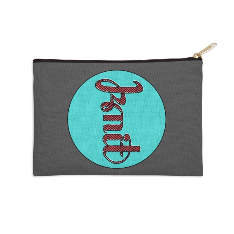 Knit/Purl ambigram Accessories Zip Pouch by Gritty Knits