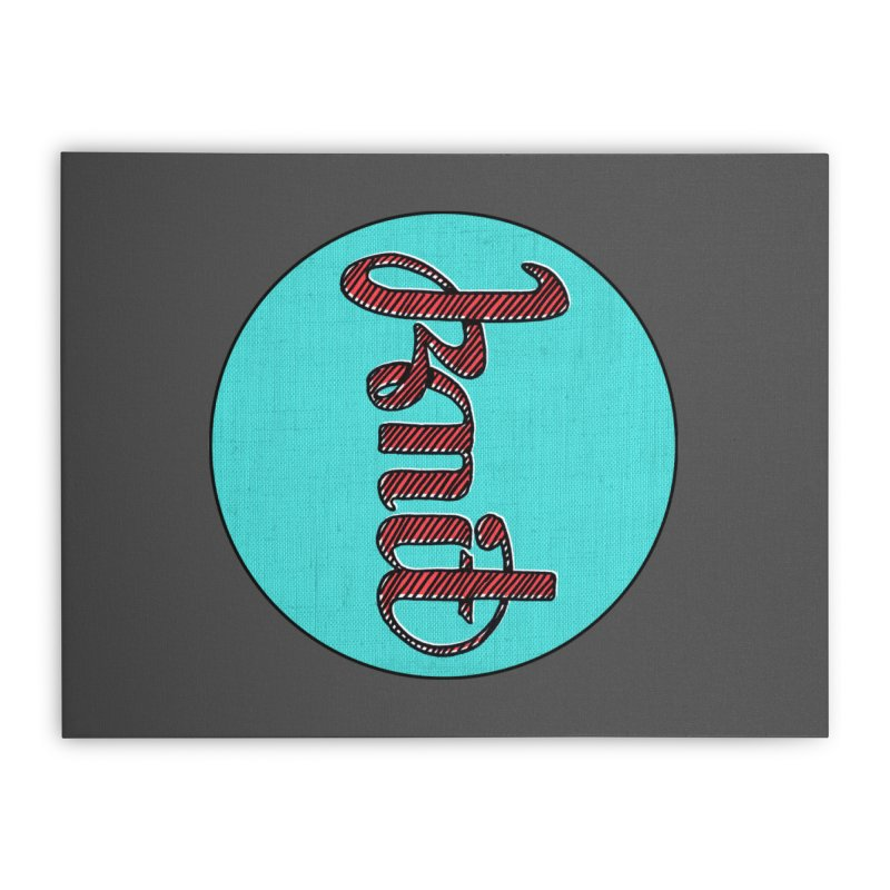 Knit/Purl ambigram Home Stretched Canvas by Gritty Knits