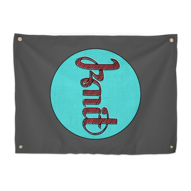 Knit/Purl ambigram Home Tapestry by Gritty Knits