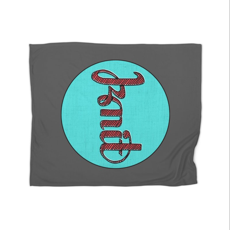 Knit/Purl ambigram Home Fleece Blanket Blanket by Gritty Knits