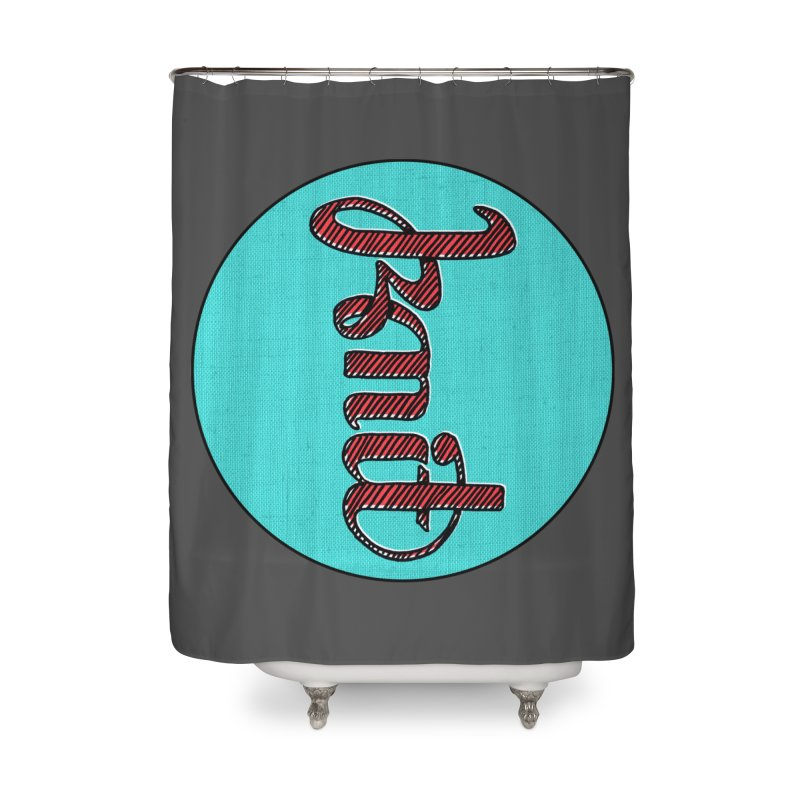 Knit/Purl ambigram Home Shower Curtain by Gritty Knits