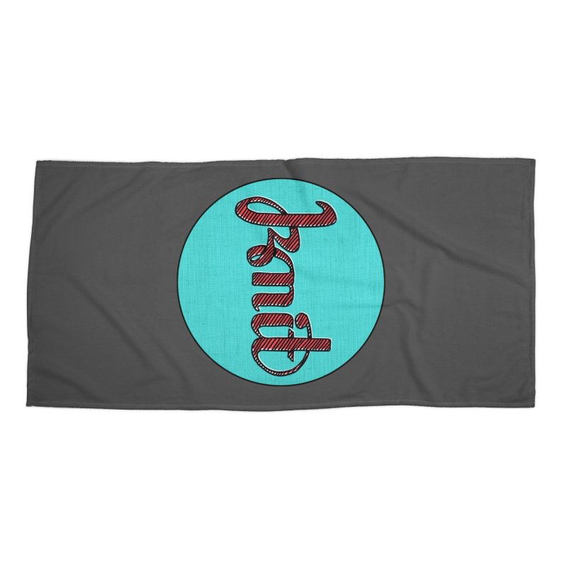 Knit/Purl ambigram Accessories Beach Towel by Gritty Knits