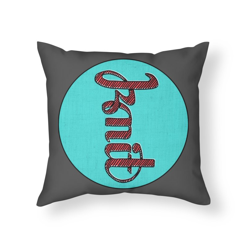 Knit/Purl ambigram Home Throw Pillow by Gritty Knits