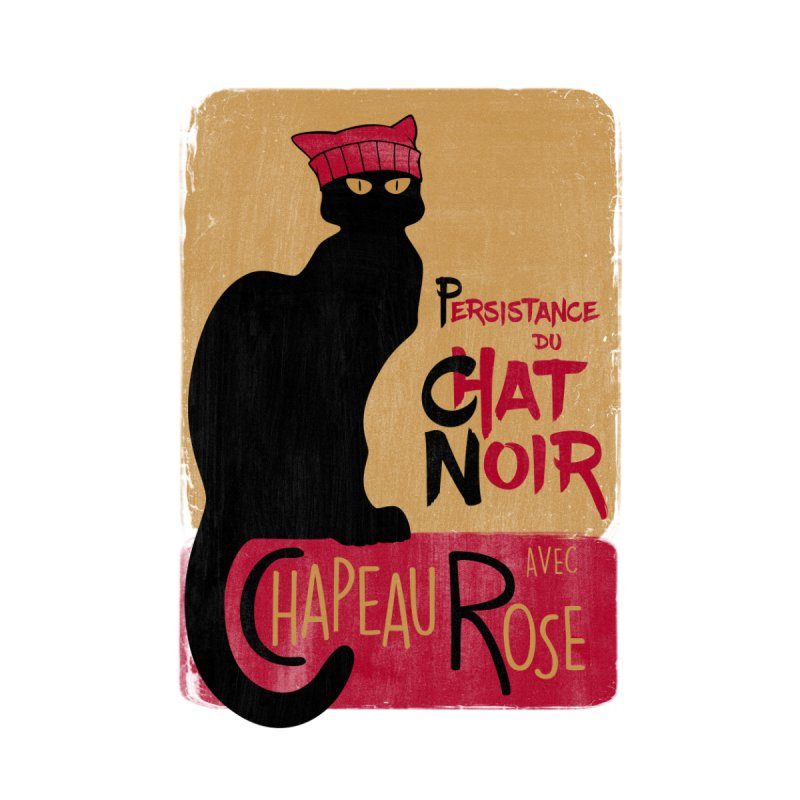 Persistance du Chat Noir avec Chapeau Rose Accessories Bag by Gritty Knits