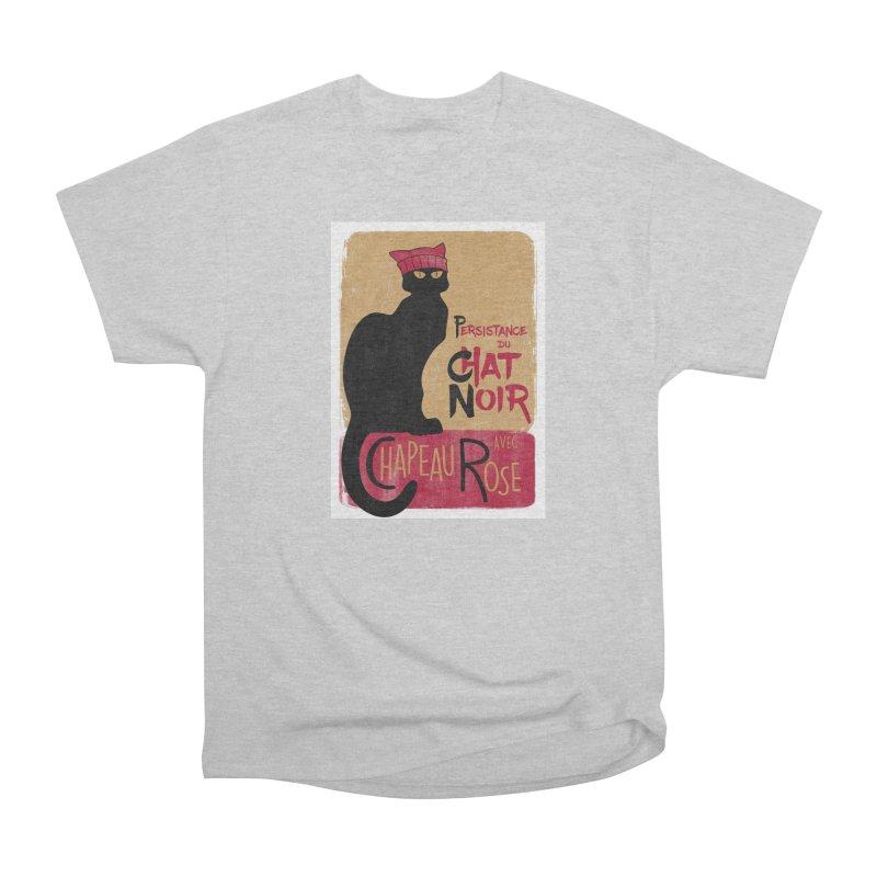 Persistance du Chat Noir avec Chapeau Rose Men's T-Shirt by Gritty Knits