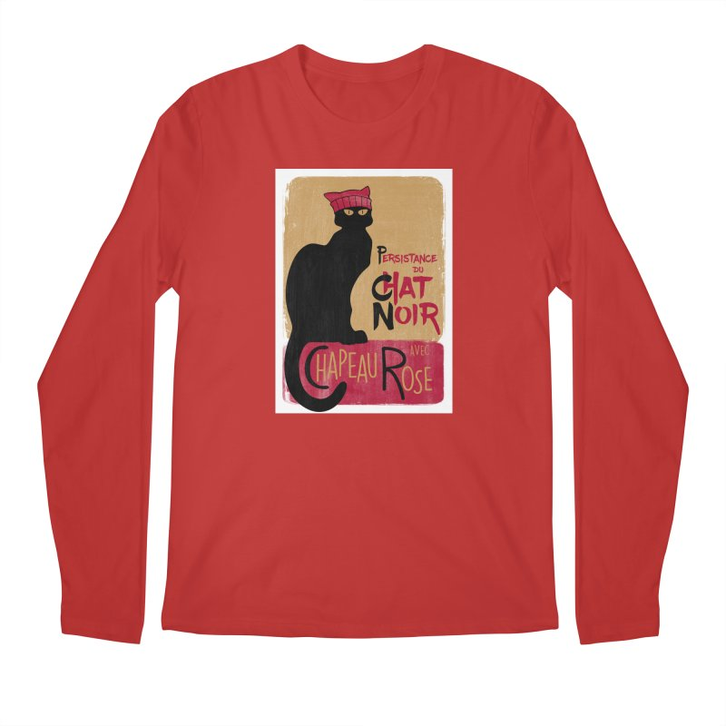 Persistance du Chat Noir avec Chapeau Rose Men's Regular Longsleeve T-Shirt by Gritty Knits