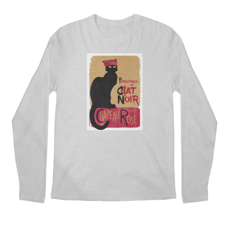Persistance du Chat Noir avec Chapeau Rose Men's Regular Longsleeve T-Shirt by Gritty Knits