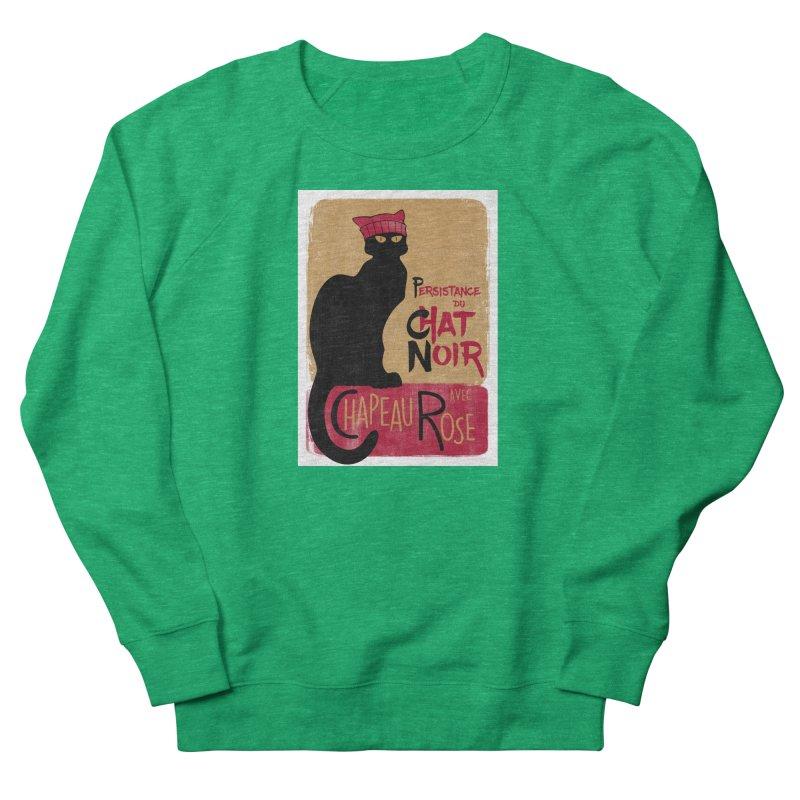 Persistance du Chat Noir avec Chapeau Rose Women's French Terry Sweatshirt by Gritty Knits