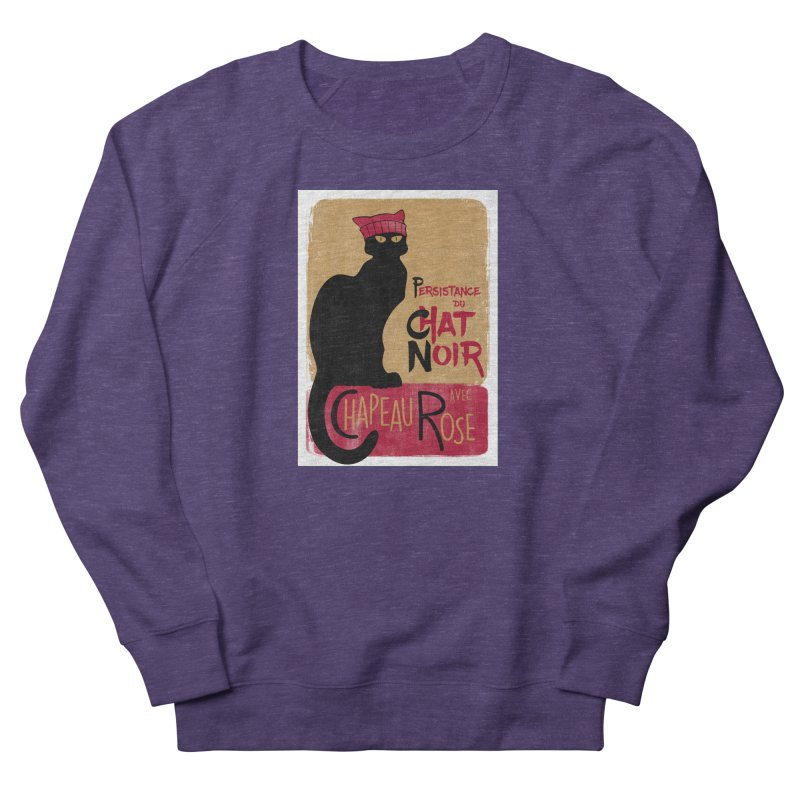 Persistance du Chat Noir avec Chapeau Rose Men's French Terry Sweatshirt by Gritty Knits