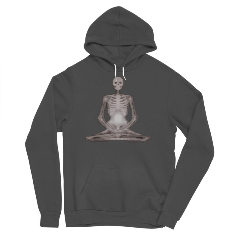 Meditative Death Men's Sponge Fleece Pullover Hoody by Grizzly Butts' Artist Shop