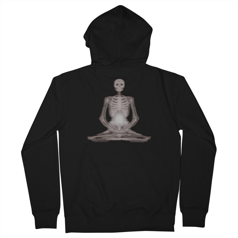 Meditative Death Men's French Terry Zip-Up Hoody by Grizzly Butts' Artist Shop
