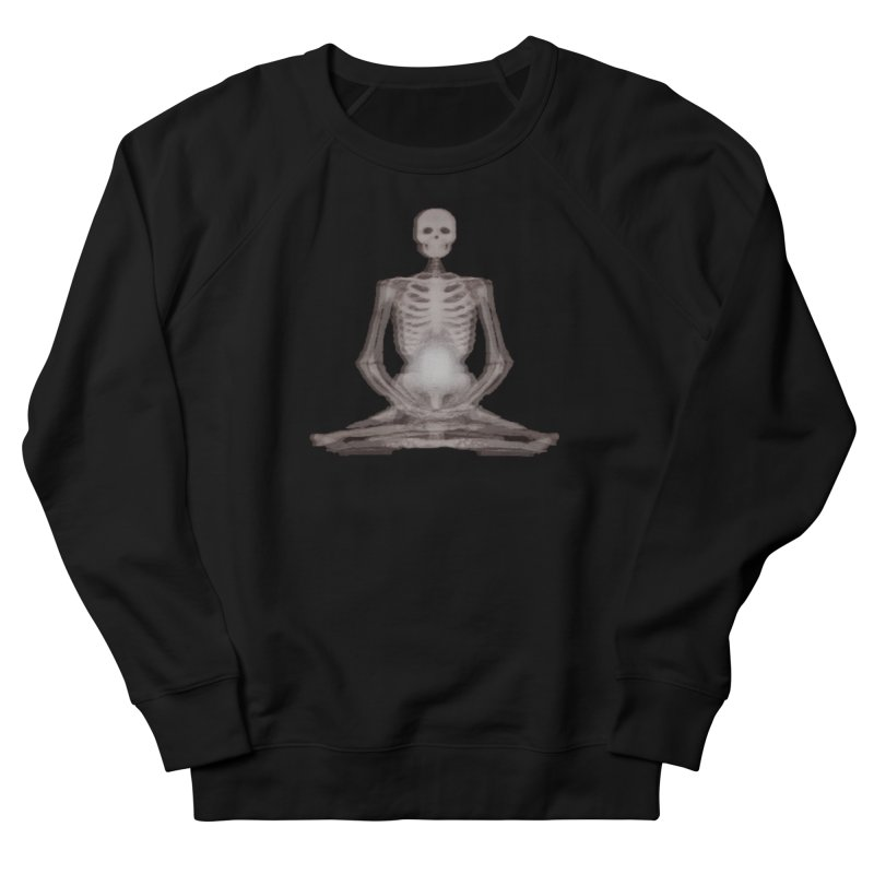 Meditative Death Men's French Terry Sweatshirt by Grizzly Butts' Artist Shop
