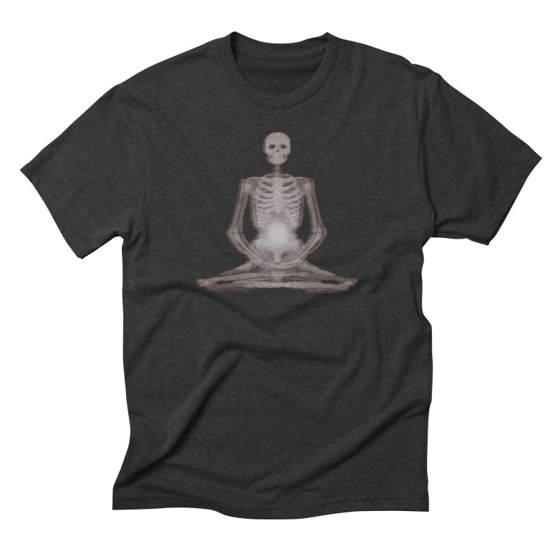 Meditative Death Men's Triblend T-Shirt by Grizzly Butts' Artist Shop