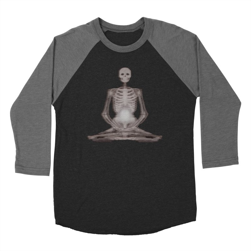 Meditative Death Men's Baseball Triblend Longsleeve T-Shirt by Grizzly Butts' Artist Shop