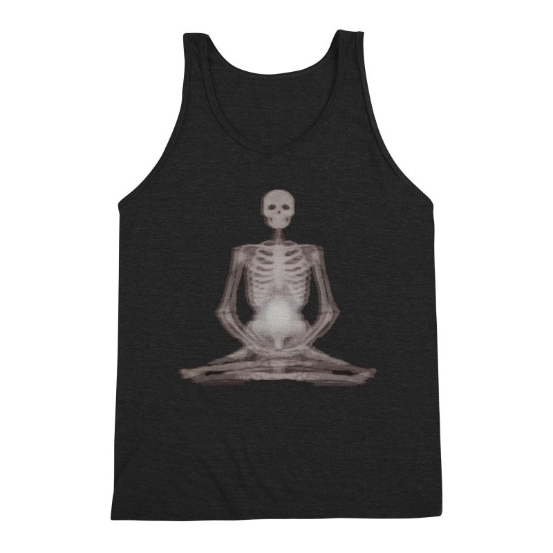 Meditative Death Men's Triblend Tank by Grizzly Butts' Artist Shop