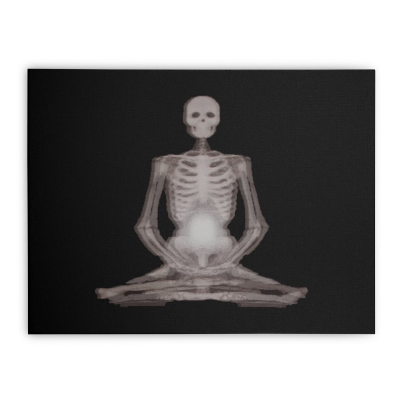 Meditative Death Home Stretched Canvas by Grizzly Butts' Artist Shop