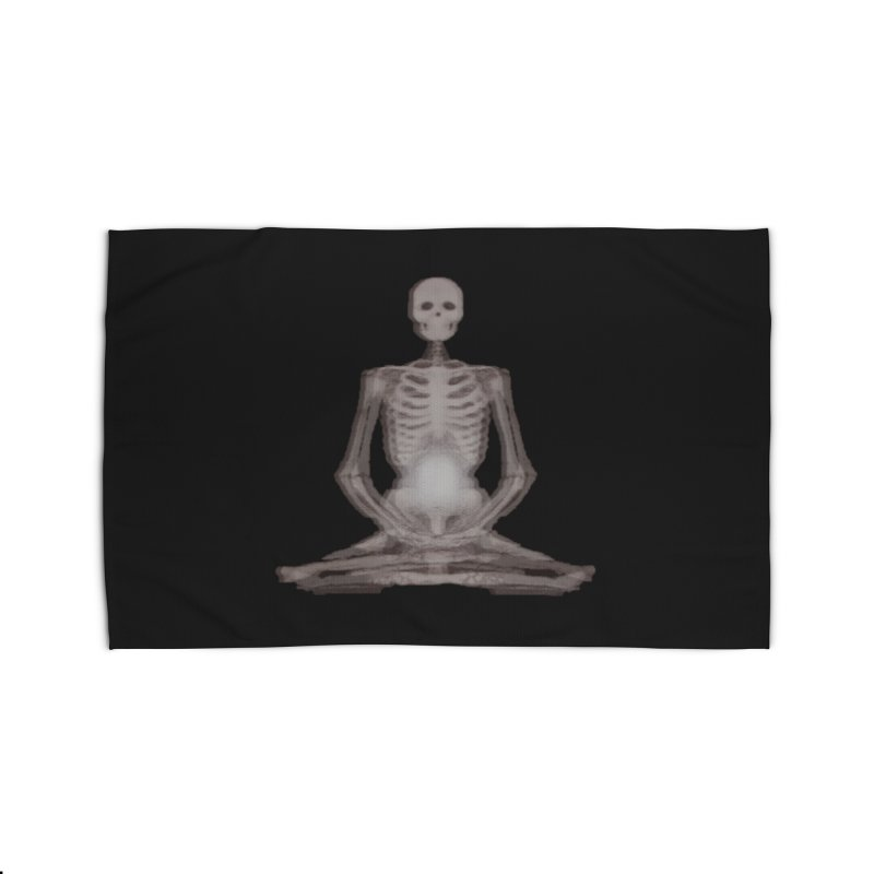 Meditative Death Home Rug by Grizzly Butts' Artist Shop
