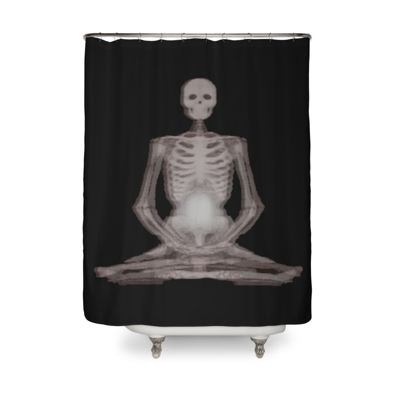 Meditative Death Home Shower Curtain by Grizzly Butts' Artist Shop