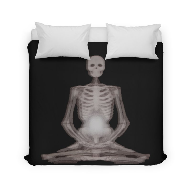 Meditative Death Home Duvet by Grizzly Butts' Artist Shop