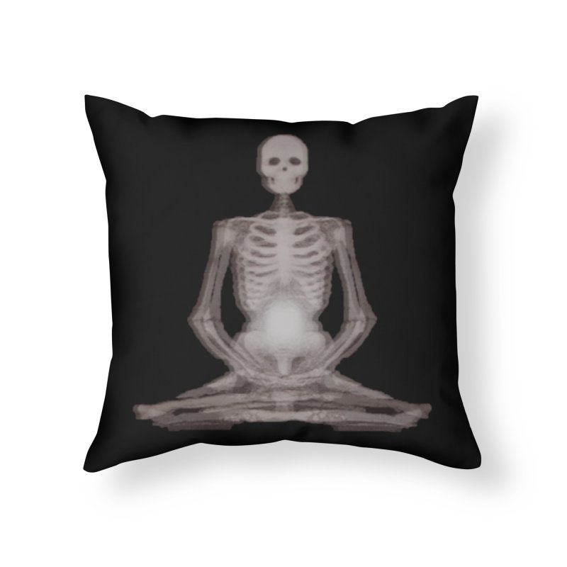 Meditative Death Home Throw Pillow by Grizzly Butts' Artist Shop