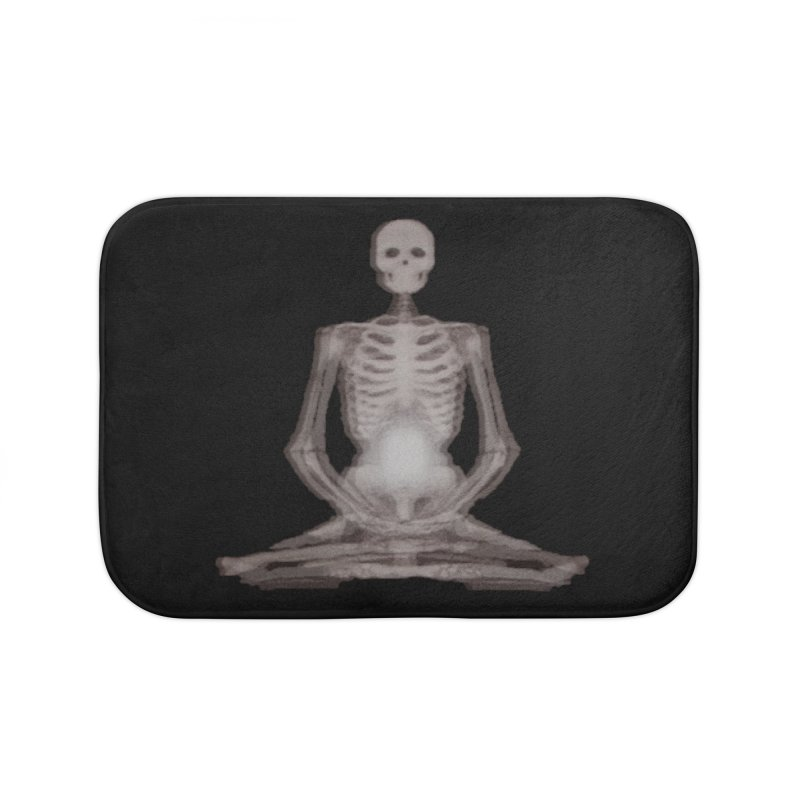 Meditative Death Home Bath Mat by Grizzly Butts' Artist Shop