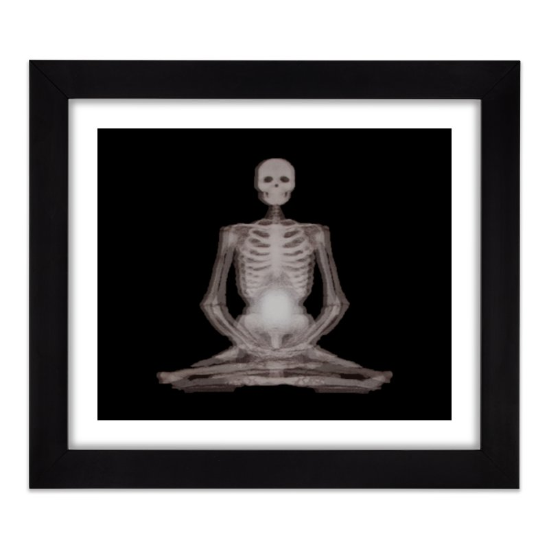 Meditative Death Home Framed Fine Art Print by Grizzly Butts' Artist Shop
