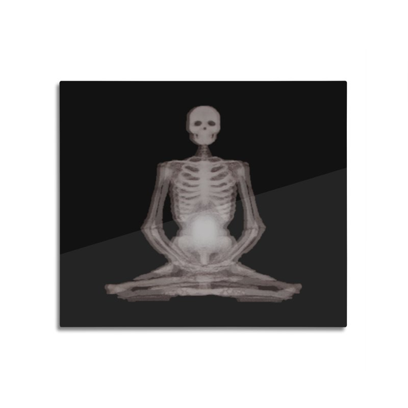 Meditative Death Home Mounted Aluminum Print by Grizzly Butts' Artist Shop