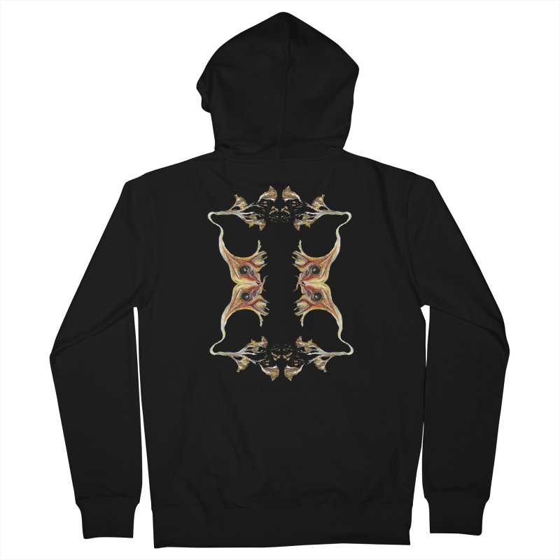 Neuronal Rifts Women's French Terry Zip-Up Hoody by Grizzly Butts' Artist Shop