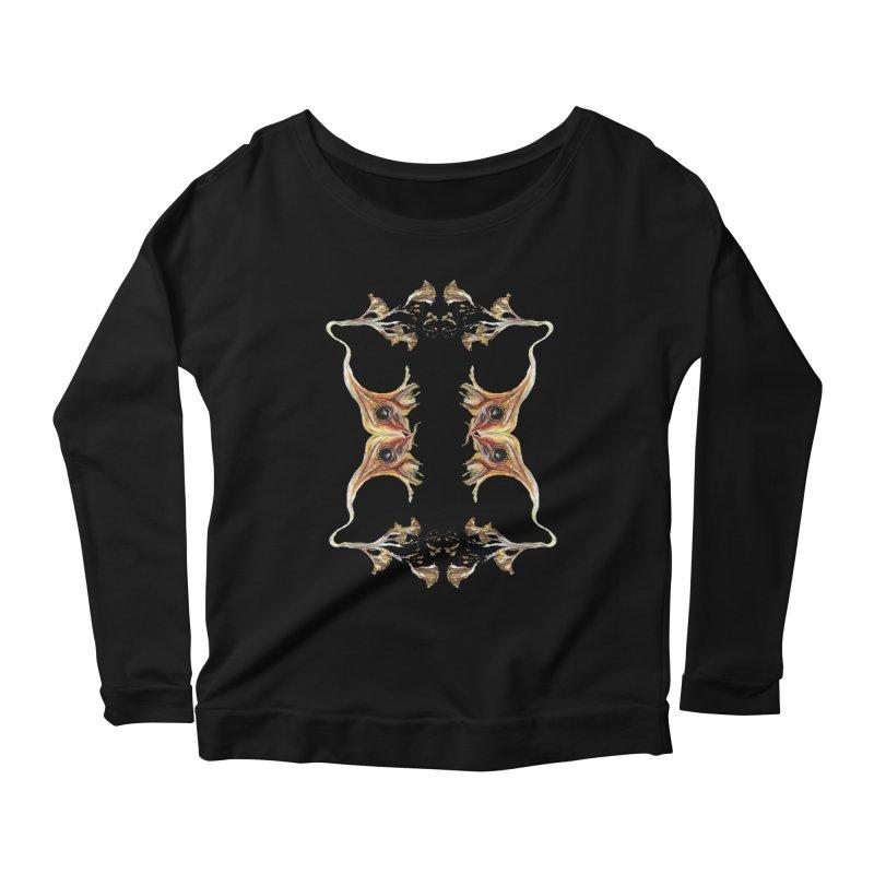Neuronal Rifts Women's Scoop Neck Longsleeve T-Shirt by Grizzly Butts' Artist Shop