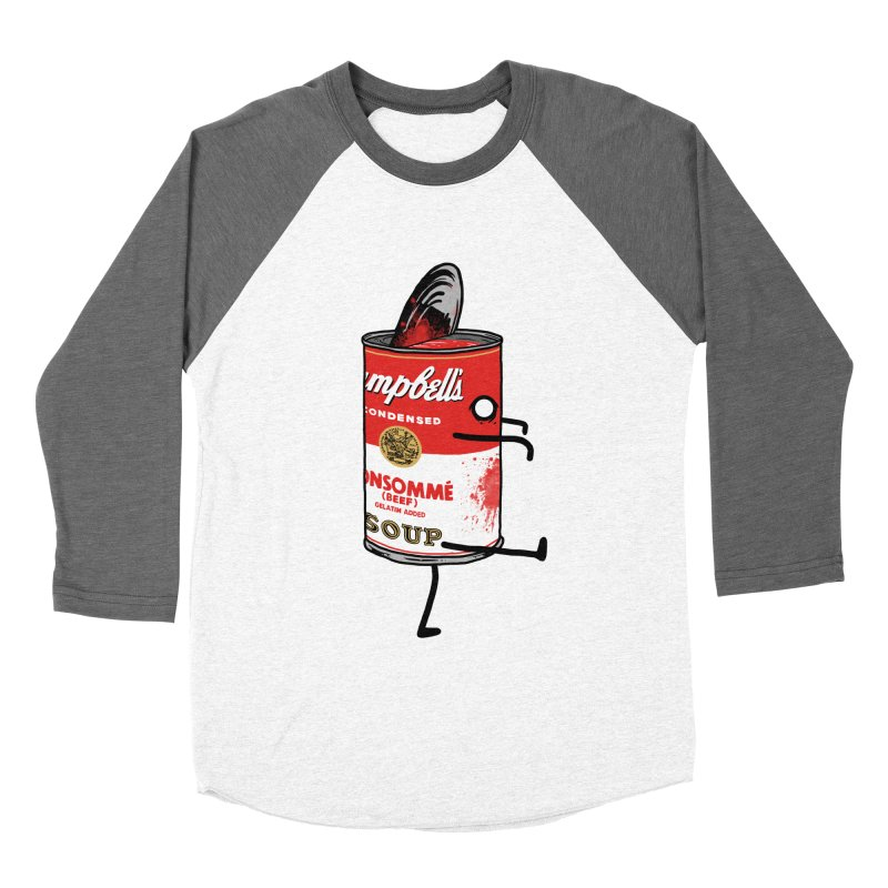 Zombie Tomato Soup Men's Baseball Triblend T-Shirt by groch's Artist Shop
