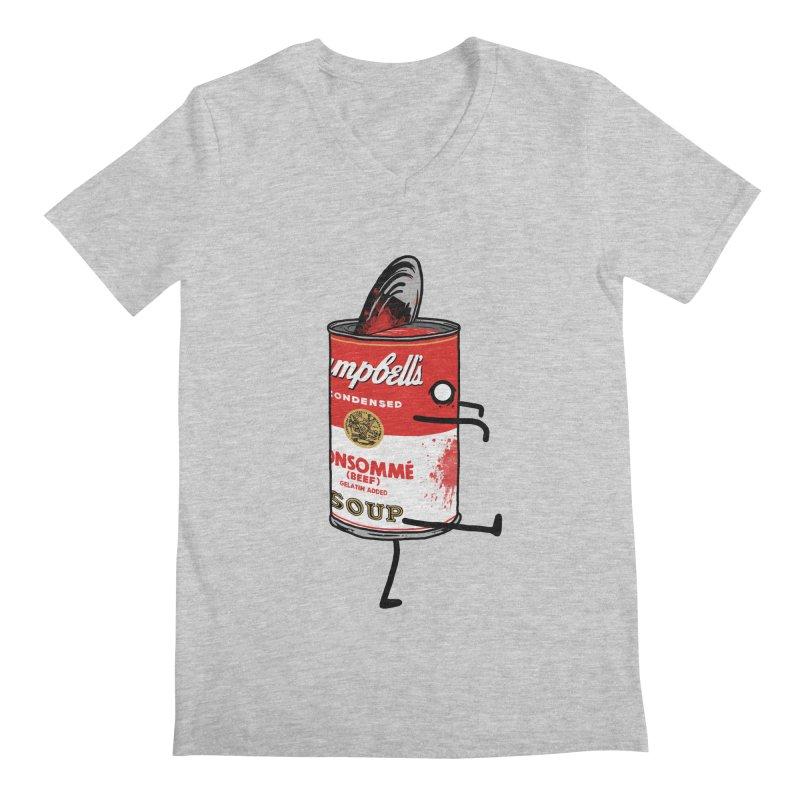 Zombie Tomato Soup Men's V-Neck by groch's Artist Shop