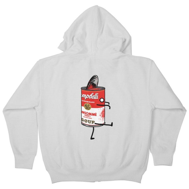 Zombie Tomato Soup Kids Zip-Up Hoody by groch's Artist Shop