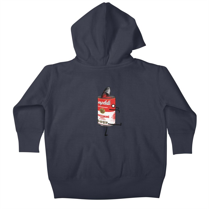 Zombie Tomato Soup Kids Baby Zip-Up Hoody by groch's Artist Shop