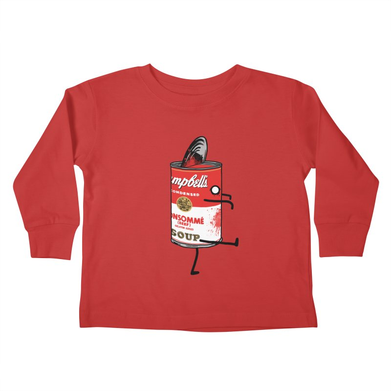 Zombie Tomato Soup Kids Toddler Longsleeve T-Shirt by groch's Artist Shop