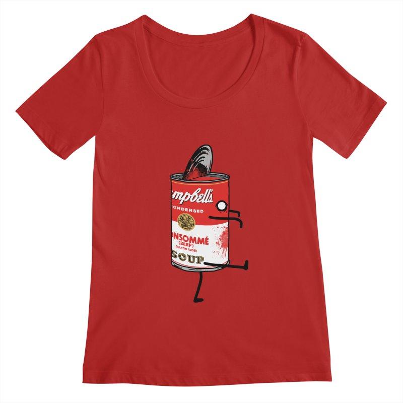 Zombie Tomato Soup Women's Scoopneck by groch's Artist Shop