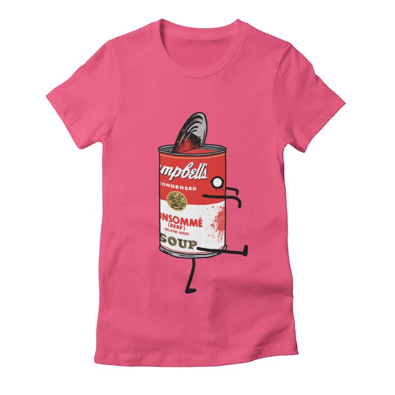 Zombie Tomato Soup Women's Fitted T-Shirt by groch's Artist Shop