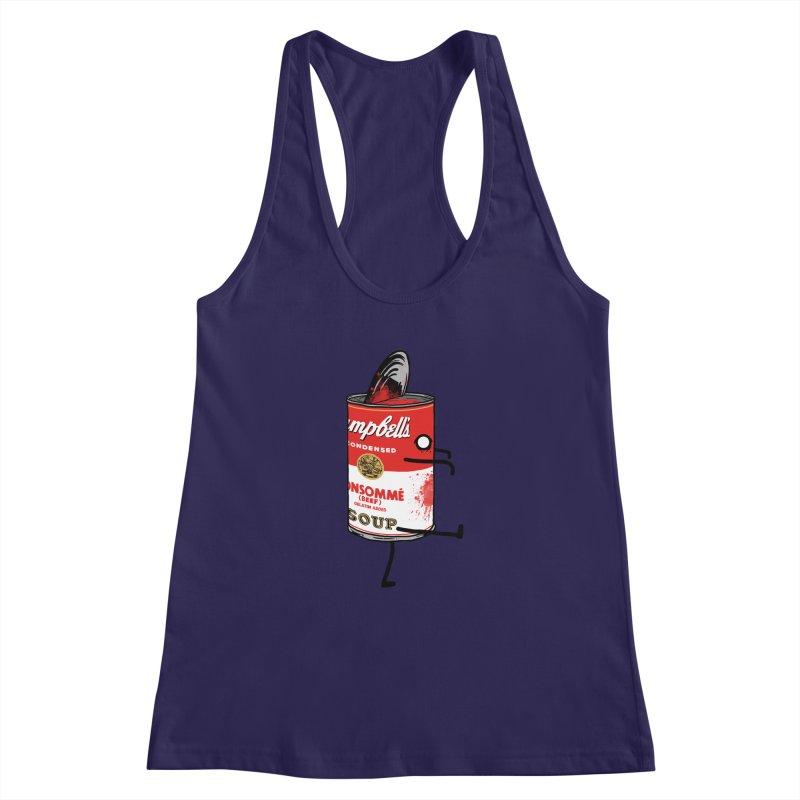 Zombie Tomato Soup Women's Racerback Tank by groch's Artist Shop