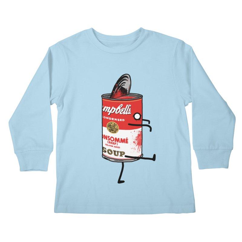 Zombie Tomato Soup Kids Longsleeve T-Shirt by groch's Artist Shop