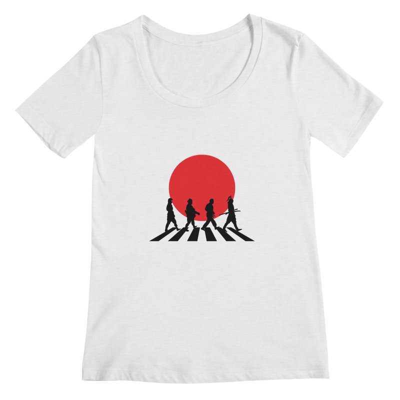 Conquer The World Women's Scoopneck by groch's Artist Shop