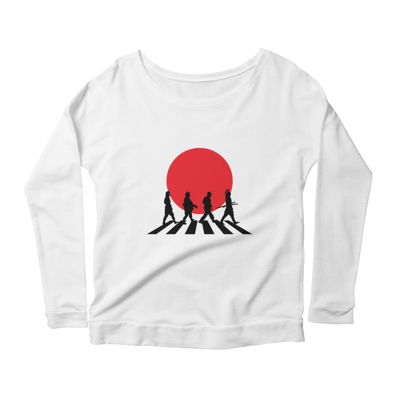 Conquer The World Women's Longsleeve Scoopneck  by groch's Artist Shop