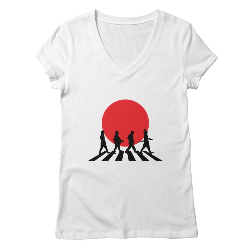Conquer The World Women's V-Neck by groch's Artist Shop
