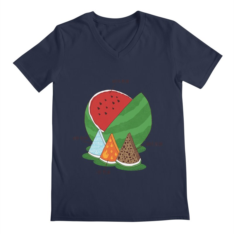 Elemelons Men's V-Neck by groch's Artist Shop
