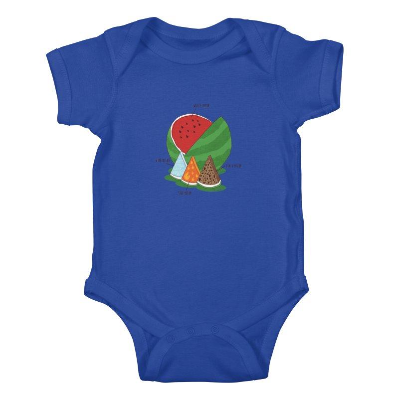 Elemelons Kids Baby Bodysuit by groch's Artist Shop