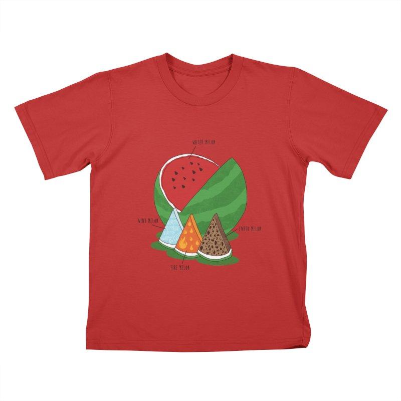 Elemelons Kids T-shirt by groch's Artist Shop