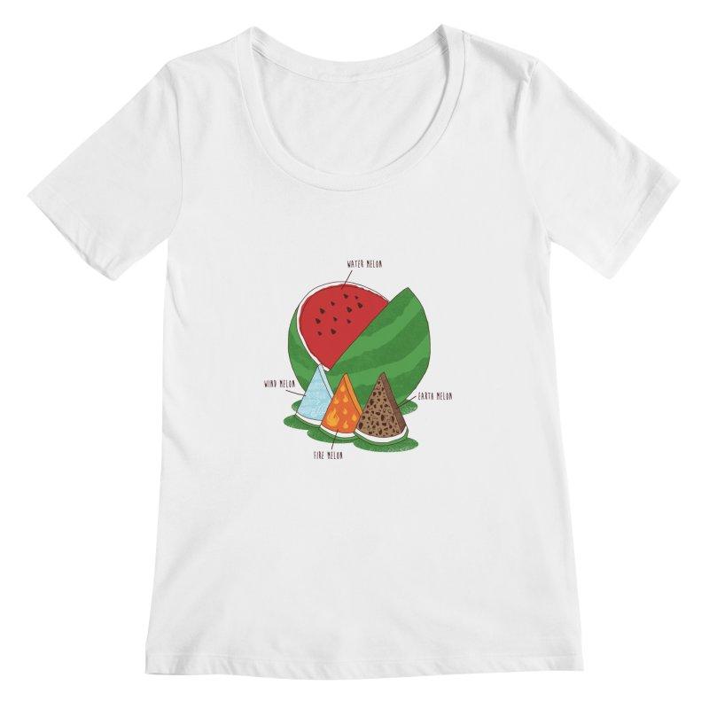 Elemelons Women's Scoopneck by groch's Artist Shop