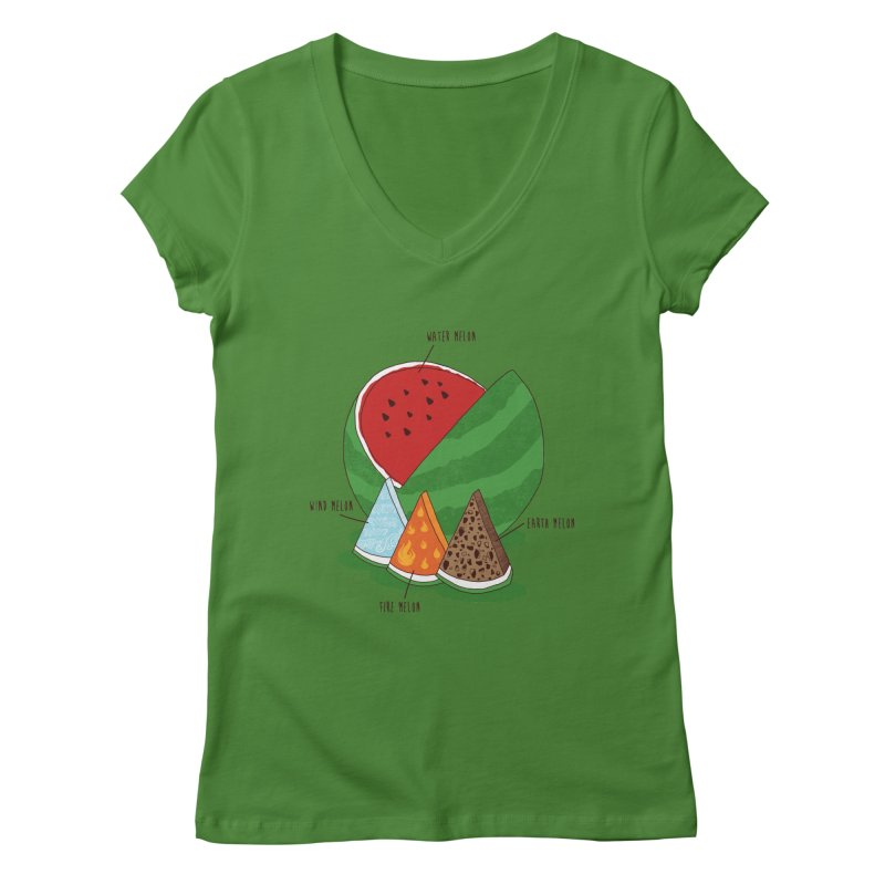 Elemelons Women's V-Neck by groch's Artist Shop