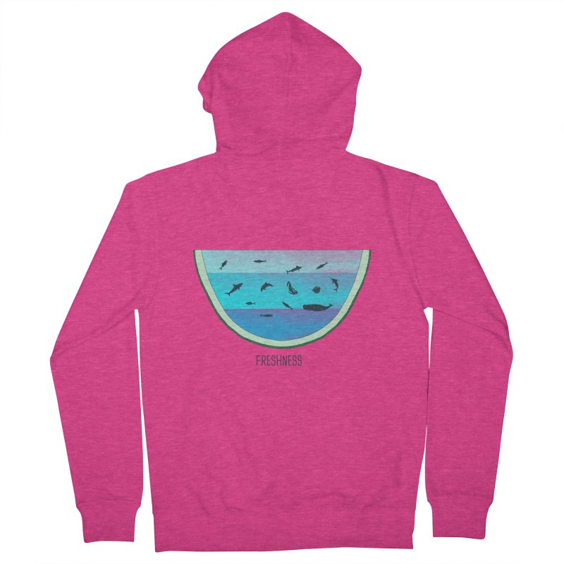 Water Melon Women's Zip-Up Hoody by groch's Artist Shop