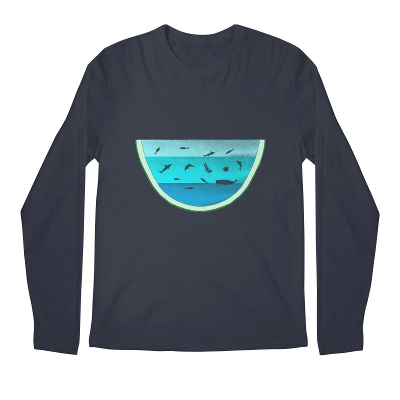 Water Melon Men's Longsleeve T-Shirt by groch's Artist Shop